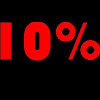 10% Reduziert! in Farbe rot und schwarz