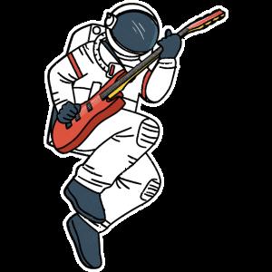 ASTRONAUT E-Gitarre lustiges Weltall Geschenk