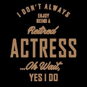 Schauspielerin - Lustiger Job und Hobby