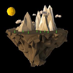 Fliegende Insel