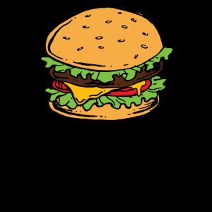 Burger Hamburger Cheeseburger Fast Food Hunger