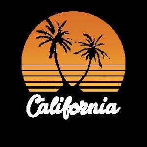 Kalifornien Vintage - USA Palmen Sonne Geschenk