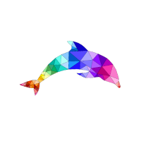 Delfin Polygon Fisch Säugetier Meer Urlaub