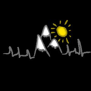 Berge Gipfel Alpen Herzschlag Sonne