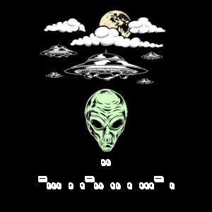 Lustiges Alien UFO Außerirdische Morse Code