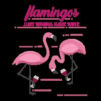 Lustiger Spruch Flamingo Wein Tiere Lustig
