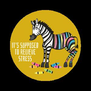 Zebra Malen Kunst Stress Tier Lustige Tiere