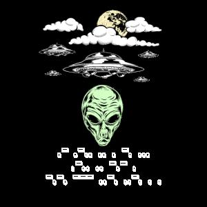 Lustiges Alien UFO Morse Code Aliens Like Coffee