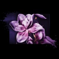 Blume Magnolie purple lila Poster