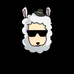 Lama mit Hut