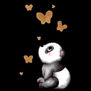 Träumender Comic Panda