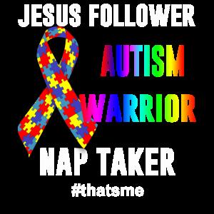 Jesusfolger Autismus-Krieger-Schlappschusspferd