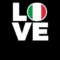 Ich liebe Italien T-Shirt Geschenk Italiener Fahne