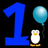 Happy Birthday Pinguin Geschenk Geburtstag 1 Jahr