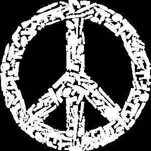 Peacezeichen aus Waffen - Illusion des Friedens