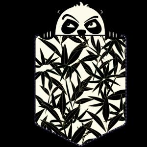 Brusttasche süßer Baby Panda Bär Bambus Geschenk