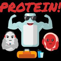 Protein - Fitness Muskeln Muskelaufbau Nahrung