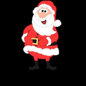 Weihnachtsmann Comic rot
