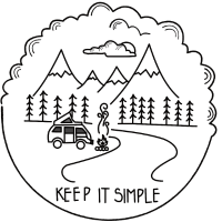 Keep it Simple Clouds Camping Trailer