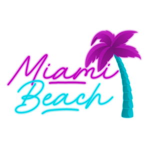 Miami Beach Palmen Geschenkidee Geschenk