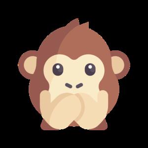 süßes Affen Emoticon