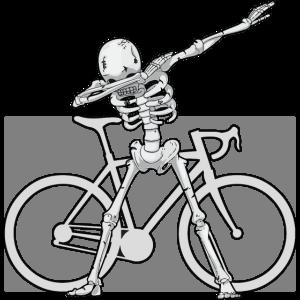 Dabbing Skelett - Dab Skeleton - MTB - Bike