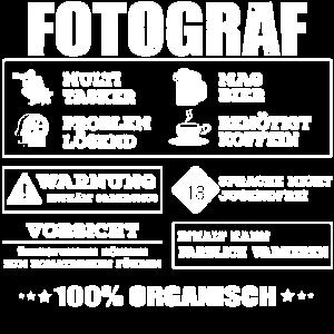 Fotograf Beruf, Kamera, Fotografenshirt, Fotoshirt