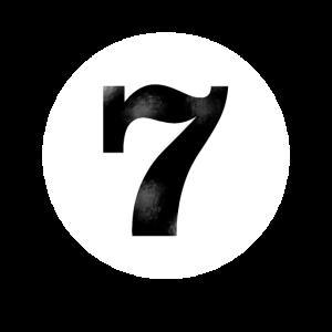 Billiard Kugel sieben