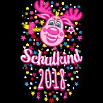 08 Schulkind 2018 Hirsch Rudi Pink Mädchen Glitzer