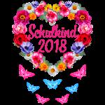 16 Schulkind 2018 Blumenkranz Schmetterlinge