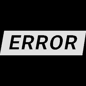 error - Text mit Rahmen in weiß