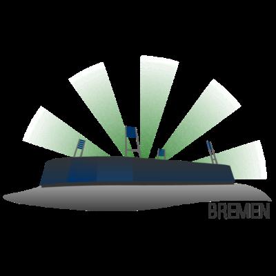 Bremen Fussballstadion - Die Bremen Weserstadion, die Heimstätte des Bundesligisten Bremen. - werder,stadion,solarstadion,schaaf,randal,Weserstadion,Weser,Pyrotechnik,Nordderby,Bremen