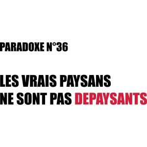 PARADOXE Paysan francais