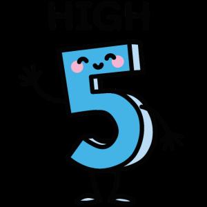High 5 - Cartoon Nummer Geburtstag fünf Jahre alt