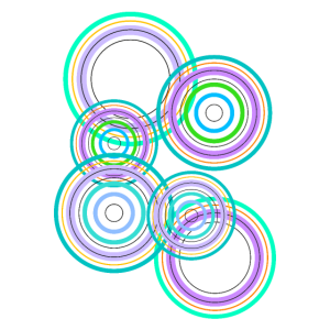 bunte abstrakte Kreise