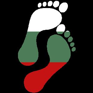 Bulgarien Flagge Fußabdruck