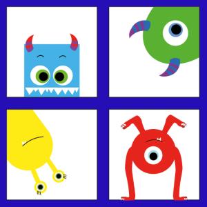 Monster Kinderzimmer Poster nursery Art