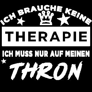 Therapie - Thron - weiß