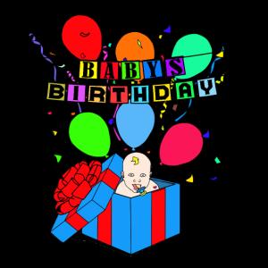 Baby Geburtstag witzige Geschenkidee für Eltern