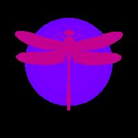 Rosa lila Libelle