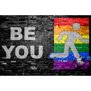 Be You Coming out Graffiti