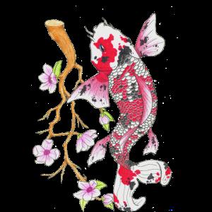 Koi Karpfen Lotus Japanisches Design Geschenk