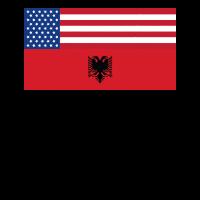 Albanischer Adler Geschenk Albaner T-Shirt Mann