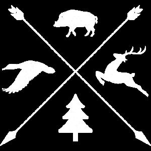 Jagd Jäger Förster Wildtiere Shirt Geschenk Grunge