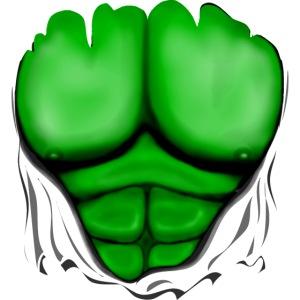 Gerippt Muskeln Grün, muskulöse, Brust-T-Shirt