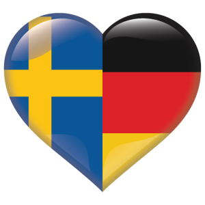 Herz Flagge Schweden Deutschland Deutsch Geschenk