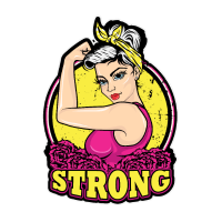 Shirt - Strong. Rockabilly Pinup Power