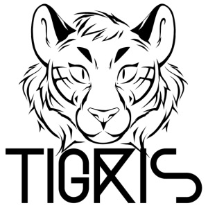 Tigris Logo Picture Text Black