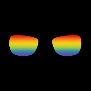 LGBT Gay Pride Regenbogen Brille schwul ist cool