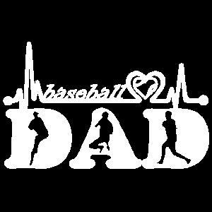 Baseball-Vati-Herzschlag-Hemd